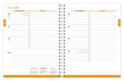 Pantone™ 2020 6 x 7.75 Inch Desk Planner from Plato™ Brilliant Blue