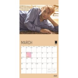 BTS 2020 12 x 12 Inch Monthly Square Wall Calendar by Plato, K-Pop Bangtan Boys Music