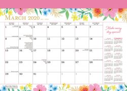 Bonnie Marcus 2020 14 x 10 Inch Monthly Academic Desk Pad Calendar by Plato, Fashion Designer Stationery