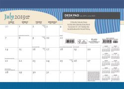 Seaside Currents 2020 14 x 10 Inch Monthly Academic Desk Pad Calendar by Plato, Ocean Sea Beach Art Design