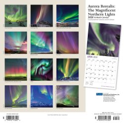 Aurora Borealis: The Magnificent Northern Lights 2020 12 x 12 Inch Monthly Square Wall Calendar with Foil Stamped Cover by Plato, USA Alaska Northern Lights
