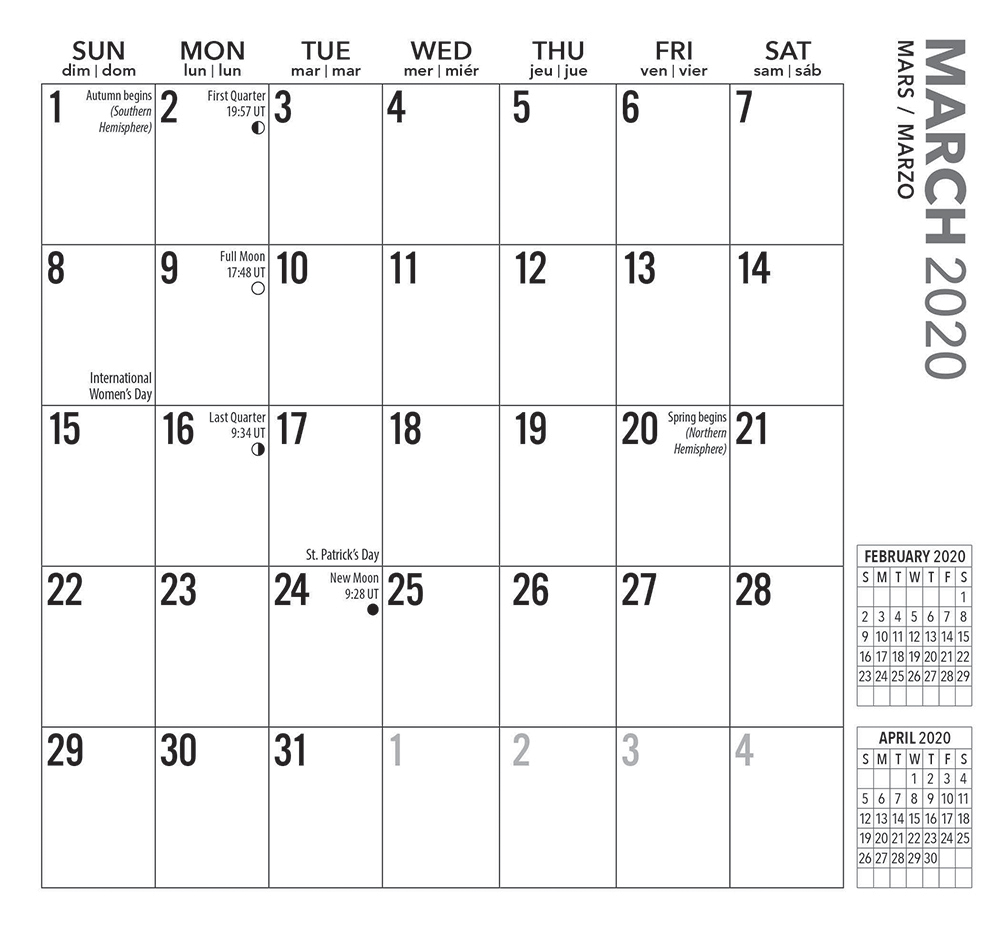 Large Print 2020 3.5 x 6.5 Inch Two Year Monthly Pocket Planner Calendar by Plato, Easy to See with Large Font