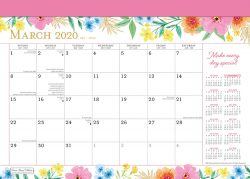 Bonnie Marcus 2020 14 x 10 Inch Monthly Desk Pad Calendar by Plato, Fashion Designer Stationery