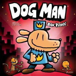 Dog Man 2020 12 x 12 Inch Monthly Square Wall Calendar by Plato, Dog Man Canine Book
