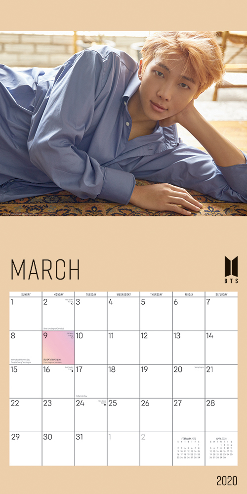 BTS OFFICIAL 2020 12 x 12 Inch Monthly Square Wall Calendar by Plato, K-Pop Bangtan Boys Music