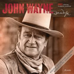 John Wayne 2021 12 x 12 Inch Monthly Square Wall Calendar with Foil Stamped Cover by Plato, USA American Actor Celebrity Country