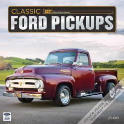 Classic Ford Pickups 2021 12 x 12 Inch Monthly Square Wall Calendar with Foil Stamped Cover by Plato, Motor Truck