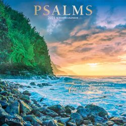 Psalms 2021 12 x 12 Inch Monthly Square Wall Calendar with Foil Stamped Cover by Plato, Religion Hymns Lord