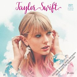 Taylor Swift 2021 12 x 12 Inch Monthly Square Wall Calendar by Plato, Music Pop Singer Songwriter Celebrity
