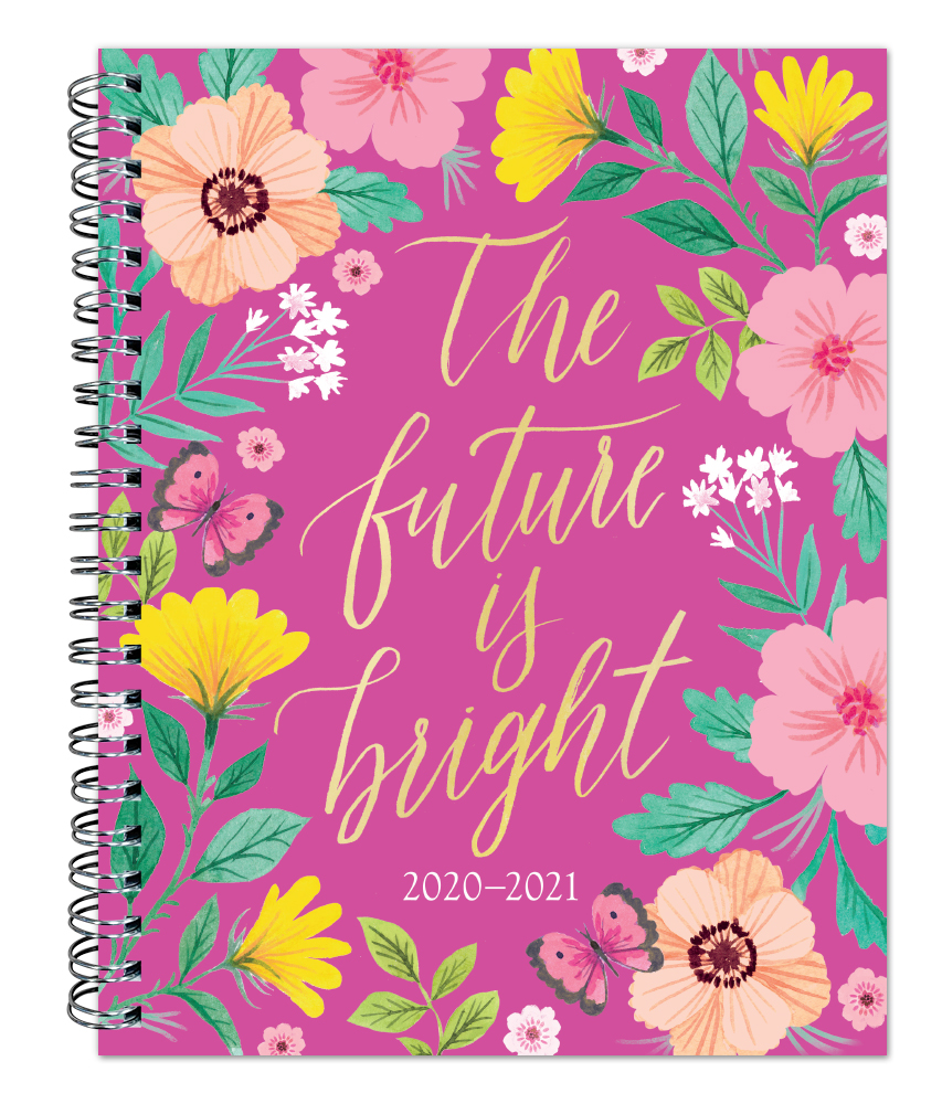 Bonnie Marcus 2021 6 x 7.75 Inch Weekly 18 Months Desk Planner by Plato with Foil Stamped Cover, Fashion Designer Stationery