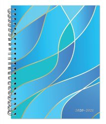 Seaside Currents 2021 6 x 7.75 Inch Weekly 18 Months Desk Planner by Plato with Foil Stamped Cover, Planning Stationery