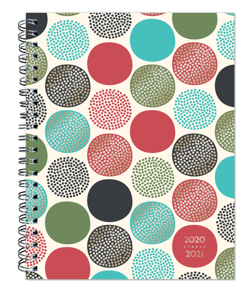Stepping Stones 2021 6 x 7.75 Inch Weekly 18 Months Desk Planner by Plato with Foil Stamped Cover, Planning Stationery