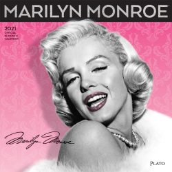 Marilyn Monroe 2021 12 x 12 Inch Monthly Square Wall Calendar with Foil Stamped Cover by Plato, USA American Actress Celebrity