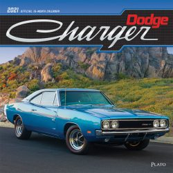 Dodge Charger 2021 12 x 12 Inch Monthly Square Wall Calendar with Foil Stamped Cover by Plato, American Muscle Motor Car