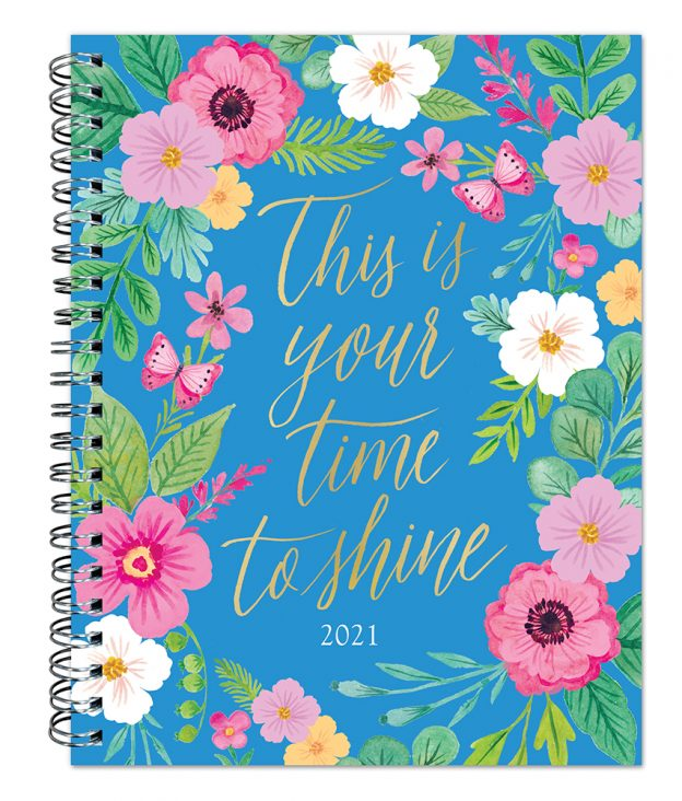 Bonnie Marcus 2021 6 x 7.75 Inch Weekly Desk Planner by Plato with Foil Stamped Cover, Fashion Designer Stationery