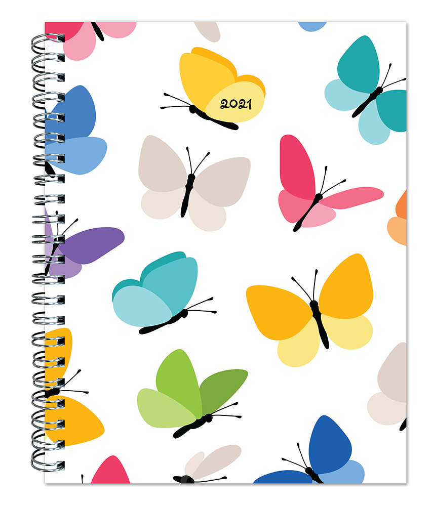 Happy Hues 2021 6 x 7.75 Inch Weekly Desk Planner by Plato, Fashion Designer Stationery