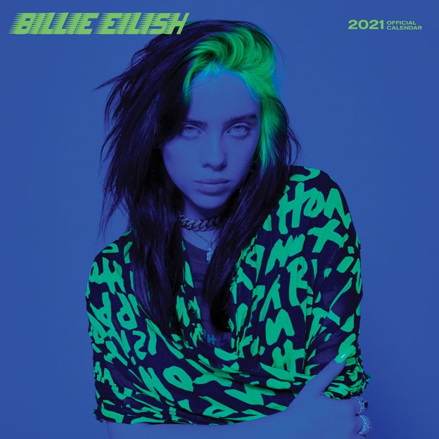 Billie Eilish 2021 12 x 12 Inch Monthly Square Wall Calendar by Plato, Music Pop Singer Songwriter Celebrity