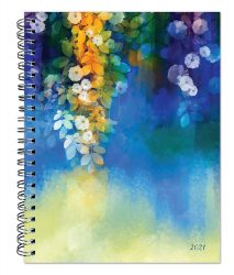 Maui Morning 2021 6 x 7.75 Inch Weekly Desk Planner by Plato with Foil Stamped Cover, Planning Stationery