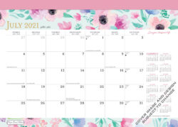Bonnie Marcus 2022 14 x 10 Inch 18 Months Monthly Desk Pad Calendar by Plato, Fashion Designer Stationery