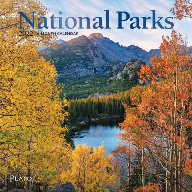 National Parks 2022 7 x 7 Inch Monthly Mini Wall Calendar with Foil Stamped Cover by Plato, USA United States of America Scenic Nature