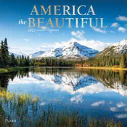 America the Beautiful 2022 12 x 12 Inch Monthly Square Wall Calendar with Foil Stamped Cover by Plato, USA United States Scenic Nature