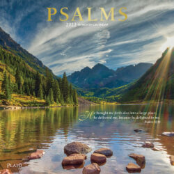 Psalms 2022 12 x 12 Inch Monthly Square Wall Calendar with Foil Stamped Cover by Plato, Religion Hymns Lord