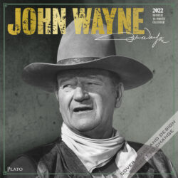 John Wayne 2022 12 x 12 Inch Monthly Square Wall Calendar with Foil Stamped Cover by Plato, USA American Actor Celebrity Country