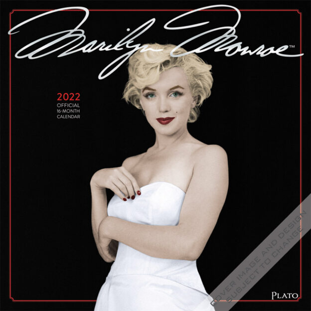 Marilyn Monroe 2022 12 x 12 Inch Monthly Square Wall Calendar with Foil Stamped Cover by Plato, USA American Actress Celebrity