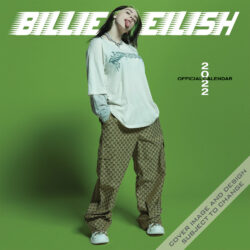 Billie Eilish OFFICIAL 2022 12 x 12 Inch Monthly Square Wall Calendar by Plato, Music Pop Singer Songwriter Celebrity