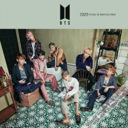 BTS OFFICIAL 2022 12 x 12 Inch Monthly Square Wall Calendar by Plato, K-Pop Bangtan Boys Music