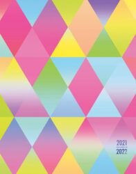 Happy Hues 2022 6 x 7.75 Inch 18 Months Weekly Desk Planner with Foil Stamped Cover by Plato, Fashion Designer Stationery