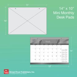 2022 12-Months Desk Pads