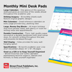 2022 18-Months Desk Pads